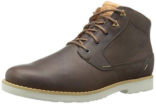 Teva Durban - Leather - Stivaletti Uomo, Marrone (Bison- BisBison- Bis), 40.5 EU