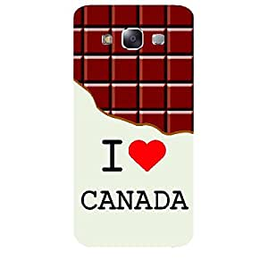 Skin4gadgets I love Canada - Chocolate Pattern Phone Skin for SAMSUNG GALAXY E5 (E500 )