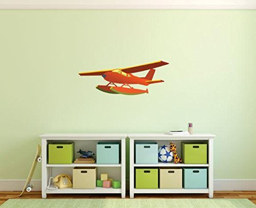 Design with Vinyl 1 Pro 157 Decor Item Airplane Kids Cartoon Wall Decal Peel and Stick Sticker Mural, 8 x 24-Inch
