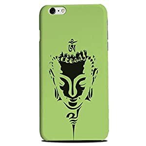 Aaranis designed Iphone 6 Plus Mobile Backcover with perfect Matte Finishing budhha Spiritual(green)