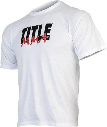 TITLE MMA Logo Tee - White - Youth XL 1 pair boxing training sticks target mma precision training sticks punching reaction target muay thai grappling jujitsu tools