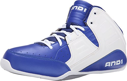 AND1 Men's Rocket 4 Surf the Web/White/Silver Sneaker 11 D (M)
