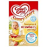 Cow & Gate Sunny Start 4-6 Mths+ Banana & Strawberry Porridge 125G