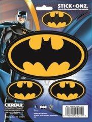 Chroma 25015 Black and Gold Batman Logo Decal - 3 Piece at Gotham City Store