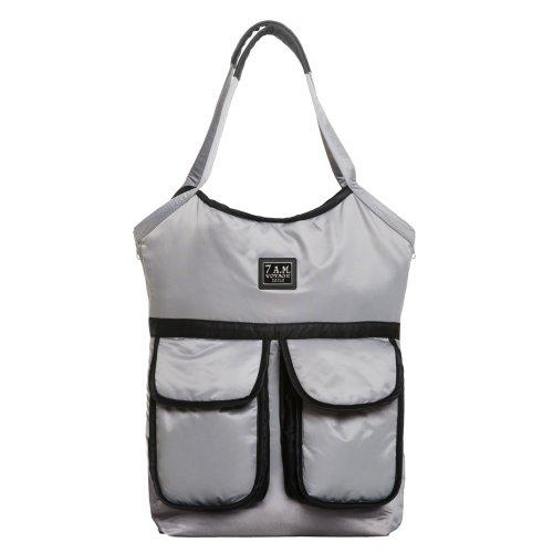 7 A.M. Enfant Barcelona Diaper Bag, Gray