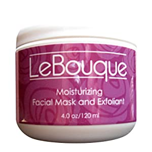 LeBouque face mask before using a moisturizer for oily skin