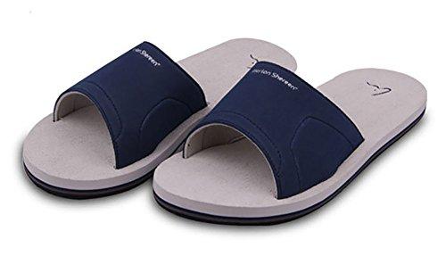 Slip On Pantofole Doccia Antiscivolo Sandali House Mule Think Schiume suola scarpe da spiaggia piscina bagno Slide per adulti, perfetto regalo di natale, Grey, 8 UK