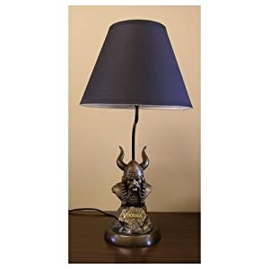 NFL Tim Wolfe Table Lamp NFL Team: Minnesota Vikings by Tailgate Toss