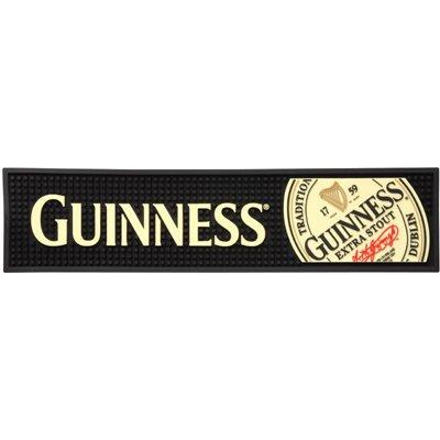 """Guinness Rubber Bar Top Mat - Extra Stout Label 20"""" X 5"""""""