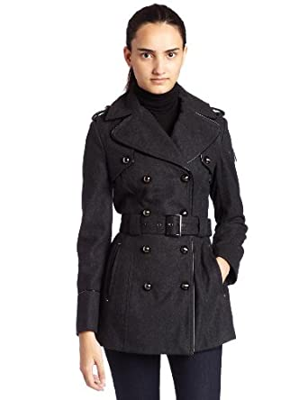 Amazon.com: Miss Sixty Womens Wool Dome Button Peacoat: Clothing