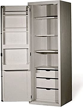 Kitchen Units Kitchen Base Unit 680mm Tall Larder with 3 Adjustable Shelves, 3 Drawers, Spice Rack and Tongue and Groove Backboards Solid Wood VL5090