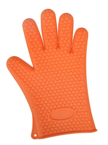 Amc Heat Resistant Silicone Glove /Pot Holder /Cooking Baking Oven Mitts, Orange