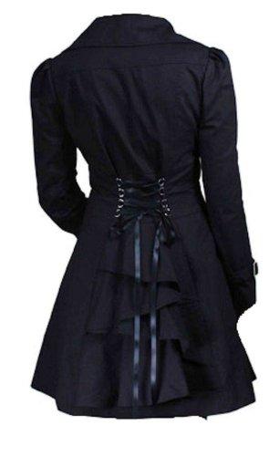 Black Classic Cotton Victorian Vampire