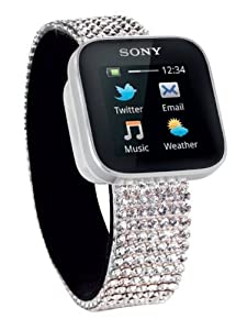 Sony Smartwatch Swarovski Handyuhr (OLED-Display mit Multitouch, Bluetooth, USB, Android OS)