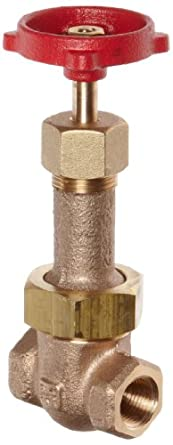 Milwaukee Valve 1153 Series Bronze Gate Valve, Industrial Service, Class 200, Rising Stem, NPT Female