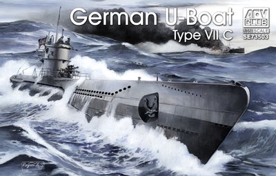 AFV Club Models 1/350 German U-Boat Type VII C