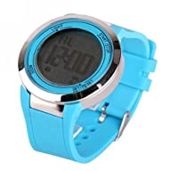 Baolihao Unisex Digital Touch Screen Multi-Functional Silicone Wrist Watch WTH0403