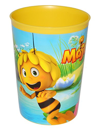 """1 Stück: """" die Biene Maja / Willi & Flip """" - Trinkbecher / Zahnputzbecher / Malbecher - Becher Trinkglas aus Kunststoff Plastik - Mädchen & Jungen - Bienen Honig / für Kinder"""