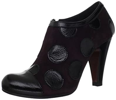 Chie Mihara Women's Verbena Ankle Boot,Black/Grape,38.5 EU/8-8.5 M US