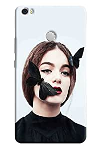 Omnam Girl With Butterfly Love Printed Designer Back Cover Case For Xiaomi Mi Max
