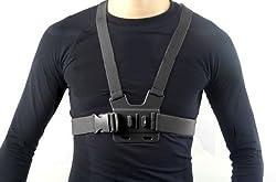 MegaGear Adjustable Chest Body Harness Belt Strap Mount For for GoPro, GoPro HD, GoPro Hero 3+, GoPro Hero 4,...