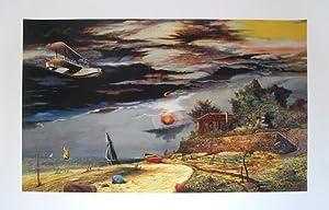 Franz Radziwill Poster Kunstdruck Strand von Dangast mit Flugboot    Rezension