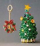【山久】ビーズ手芸キット クリスマス ツリー&キーホルダー セット (A グリーン)