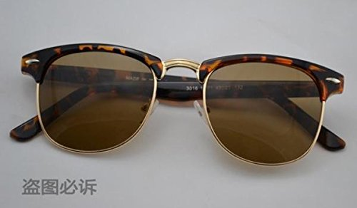 2015 Vintage Glasses sunglasses women men sun glasses (Leopard Brown)