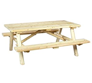Cedarlooks 0200021 Log Picnic Table