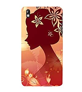 Animated Girl 3D Hard Polycarbonate Designer Back Case Cover for HTC Desire 816 :: HTC Desire 816 Dual Sim :: HTC Desire 816G Dual Sim