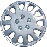 """Drive Accessories KT-842-14S/L, Toyota Corolla, 14"""" Silver Replica Wheel Cover, (Set of 4)"""