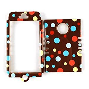 Cell Armor Rocker Snap-On Case for iPhone 5 - Retail Packaging - Little Tiny Polka Dots on Brown