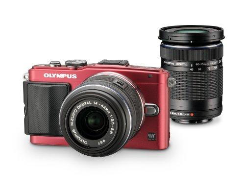 OLYMPUS ミラーレス一眼 PEN Lite E-PL6 ダブルズームキット レッド E-PL6 DZKIT RED