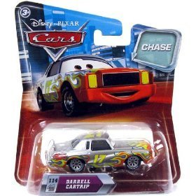 Disney / Pixar CARS Movie 1:55 Die Cast Car with Lenticular Eyes Series 2 Darrell Cartrip Metallic Finish Chase Piece! - 1