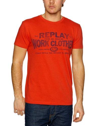 Replay M6003 Printed Men's T-Shirt Red X-Large