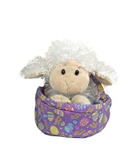 Webkinz Lamb in Easter Basket Plush