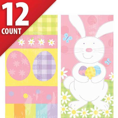 Easter Paper 14in x 10in Treat Bags 12ct