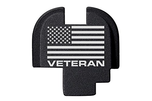 For Springfield Armory XDS 9mm 45ACP Rear Slide Plate Black US Flag Veteran Text (Springfield Rear Slide Plate compare prices)