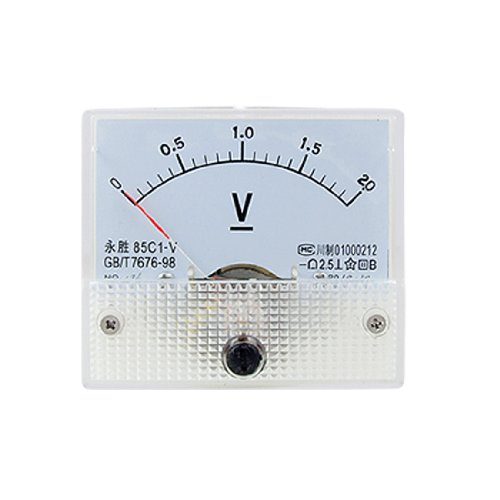Amico 85C1 DC 0-2.0V Rectangle Analog Volt Panel Meter Gauge