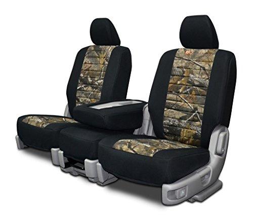 Custom Fit Seat Covers For Chevy Silverado 40-20-40 Neoprene & Realtree Hardwoods Camo (Silverado Custom Console compare prices)