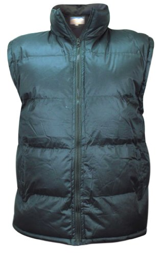 Mens Heavy Padded Lined Quilted Gilet Sleeveless Coat Body warmer Jacket