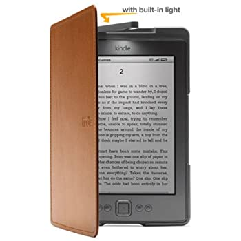 Set A Shopping Price Drop Alert For Amazon Kindle Lighted Leather Cover, Saddle Tan (does not fit Kindle Paperwhite, Touch, or Keyboard)