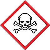 Accuform Signs LZH616PS2 GHS Pictogram Label, SKULL & CROSSBONES, 2