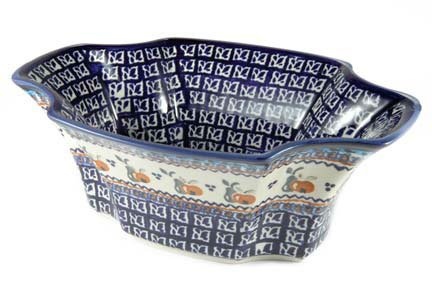 Polish Pottery Harvest Exotic Salad Bowl