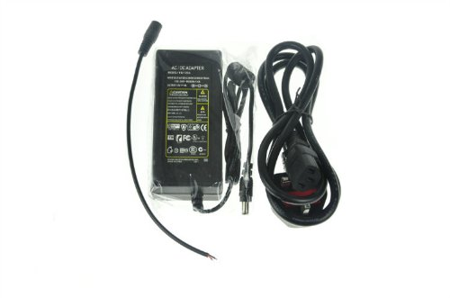 Domire Ac Power Adapter With 3-Prong Plug 12 Volt 5 Amp With 5Mm Dc Output Idear For Led Light Strip Uk Standard