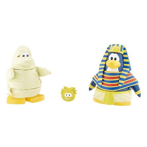 Picture of Jakks Pacific Disney Club Penguin Series 7 Mix 'N Match Mini Figure Pack Pharoh & Mummy Includes Coin with Code! (B003JIWAYO) (Jakks Pacific Action Figures)