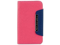 AE Sony Xperia L C2104 Leather Flip Case Cover Pouch Table Talk Wallet Pink