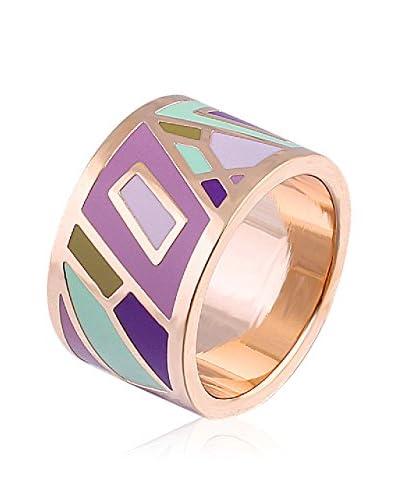 ROSE SALOME JEWELS Ring R012L vergoldeter Stahl 18 Karat