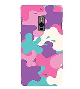 EPICCASE Color Spat Mobile Back Case Cover For OnePlus 2 (Designer Case)