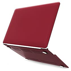 Neon Party (TM) Series iBenzer Smooth Finish Plastic Hard Case Cover for Macbook Air 13'' inch A1369 / A1466, Wine Red MAN13WR